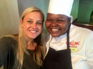 Dudu the chef and I get some selfies done!