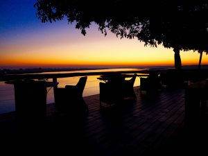 Sunrise on the Chobe Deck of Fame