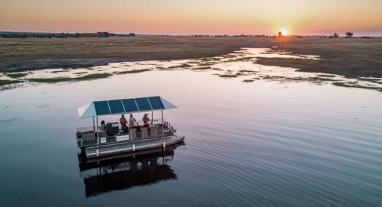 Chobe Game Lodge electric safari boats