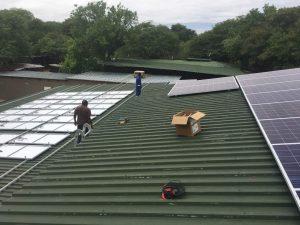 Solar Panel instillation at Chobe Game Lodge