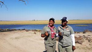 Femal guides at Chobe Game Lodge