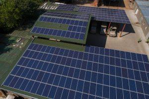 Solar plant at Chobe Game Lodge