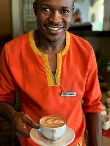 cappuccino at Chobe Game Lodge