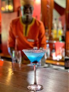 Cocktails served at Chobe Game Lodge
