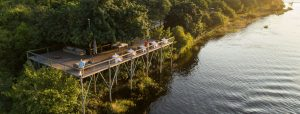 Chobe Game Lodge boardwalk and viewing deck