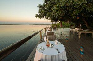 Dining at Chobe Game Lodge