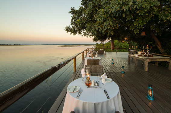 Dining at Chobe Game Lodge
