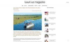Chobe Game Lodge solar powered boats